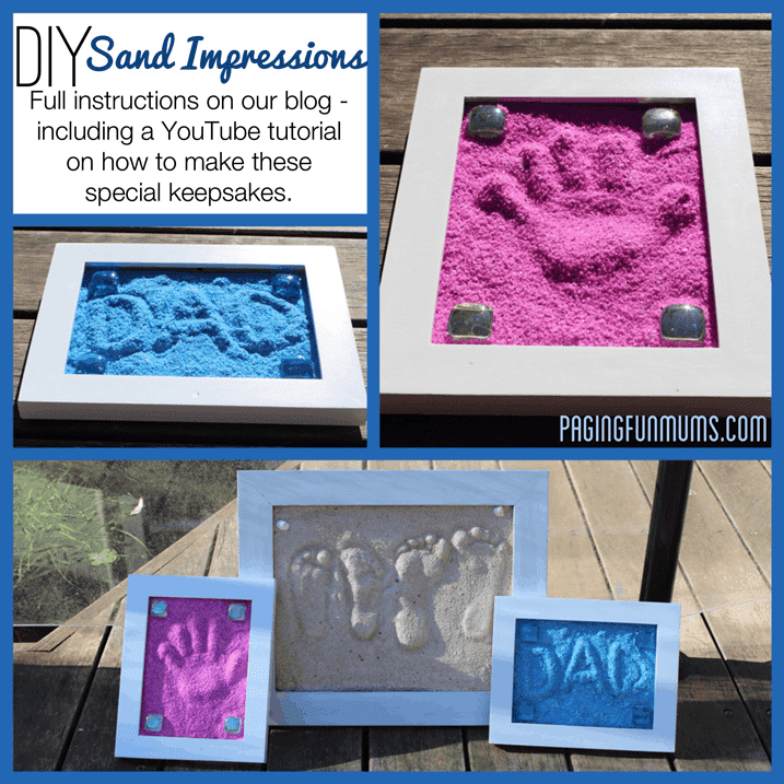 Super Fun DIY Sand Impressions