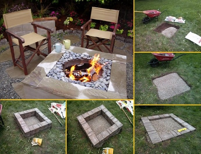 How to build a square fire pit solutioingenieria Images