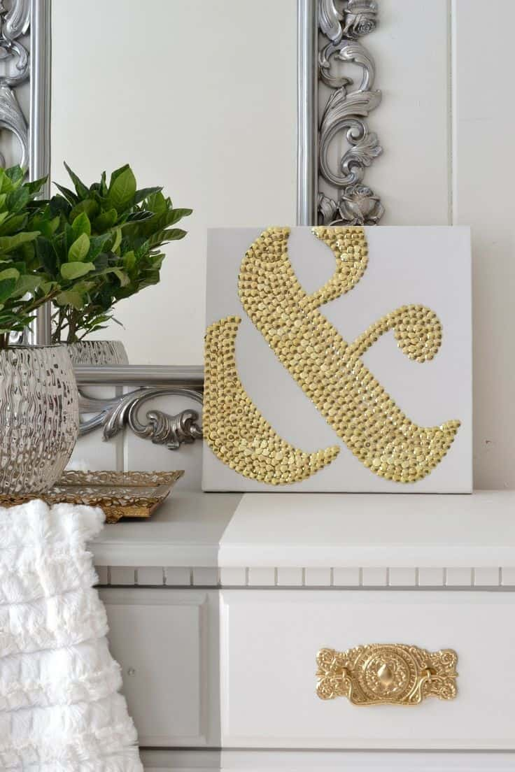 DIY Thumbtack Ampersand