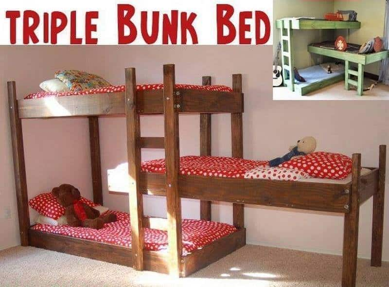 Get The Plans For Terrific Triple Bunk Beds
