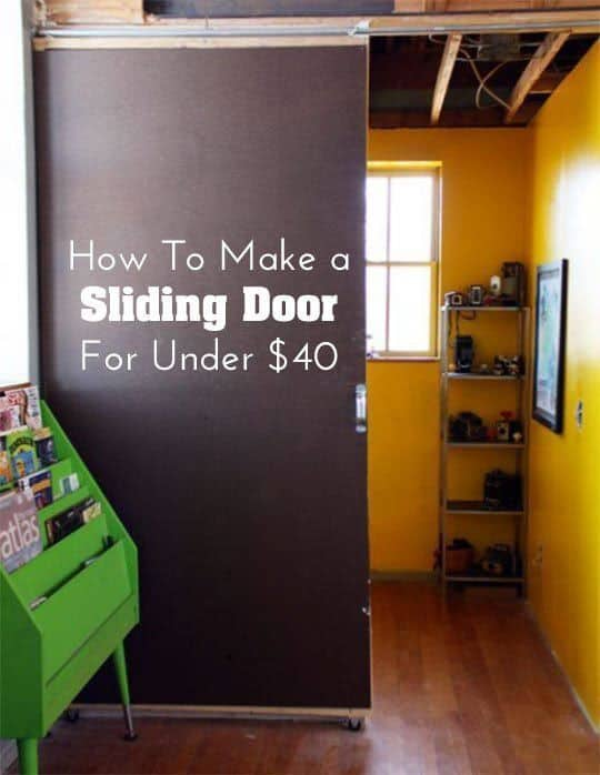 $40 DIY Sliding Door