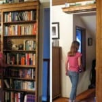 DIY Sliding Bookshelf Door