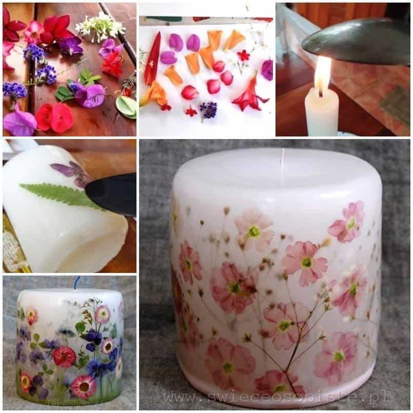 How To Decoupage A Candle With Flowers
