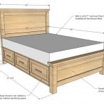 DIY Farmhouse Storage Bed