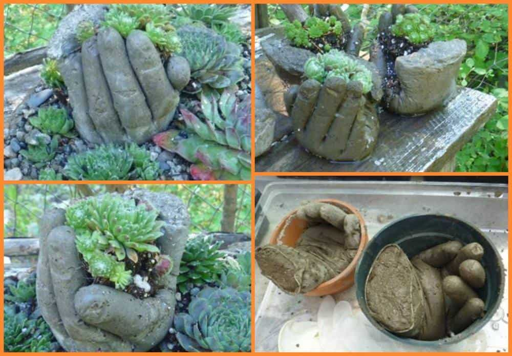 Concrete Garden Hands