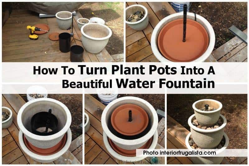 Flower pots into patio water feature solutioingenieria Image collections