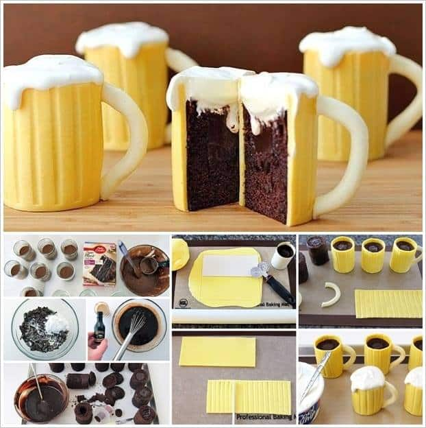 Baileys filled Beer Mug Cupcakes