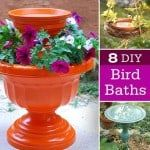 8 DIY Birdbaths