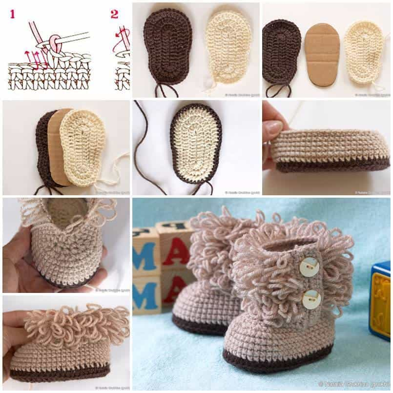 Adorable Hook Knit Baby Booties