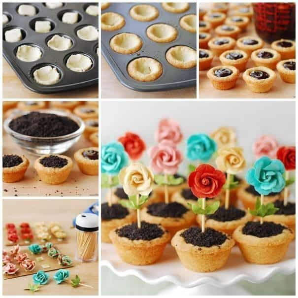 Fun Flower Pot Cookies