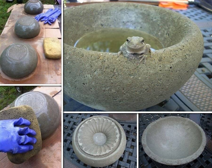 DIY Concrete Bowls And Planters