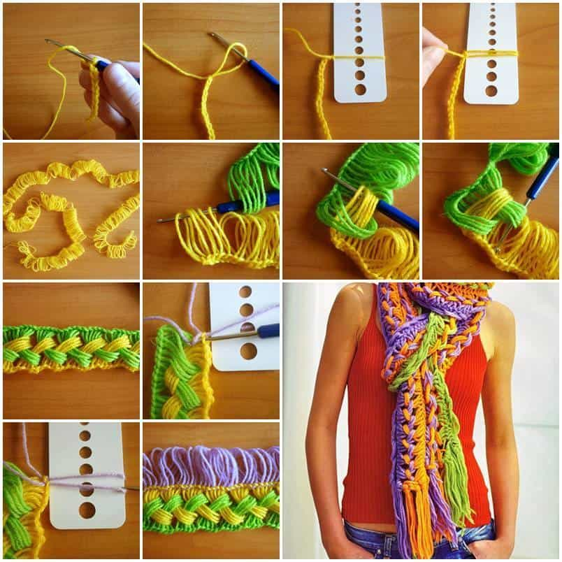 DIY Hook Knit Scarf