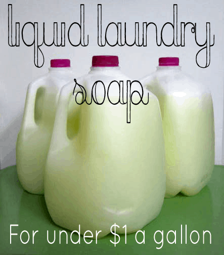 DIY Liquid Laundry Soap