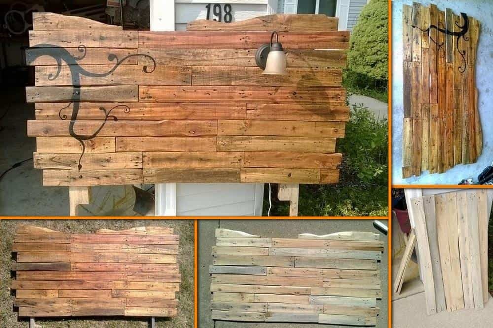 Diy pallet headboard tutorial diy cozy home for How to make a wood pallet headboard