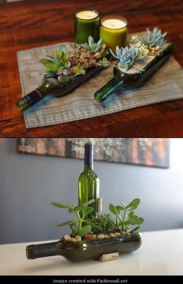 24 WIne Bottle Centerpiece Ideas