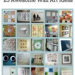 25 Wonderful Wall Art Crafts