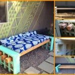 Easy Cinder Block Bench