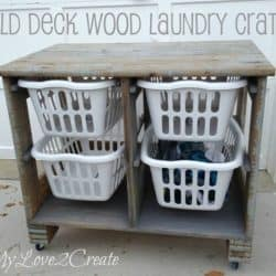 DIY Wood Laundry Crate