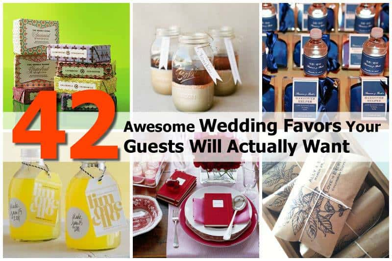 42 Fun And Useful Wedding Favors