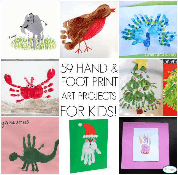 59 Handprinted Crafts For Kids