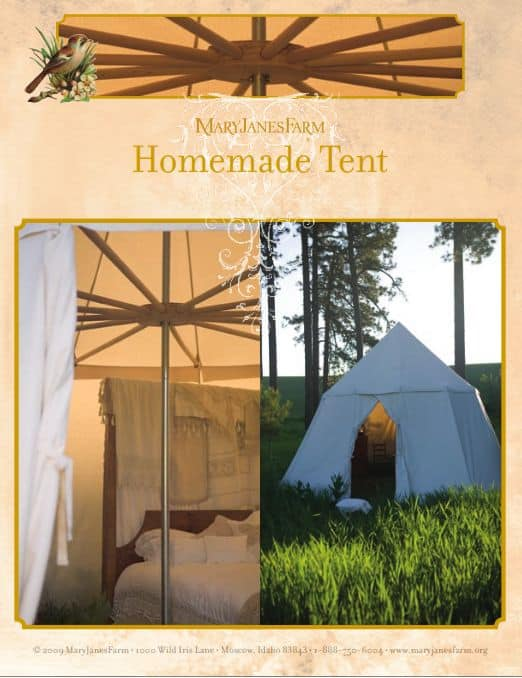 DIY Canvas Summer Tent