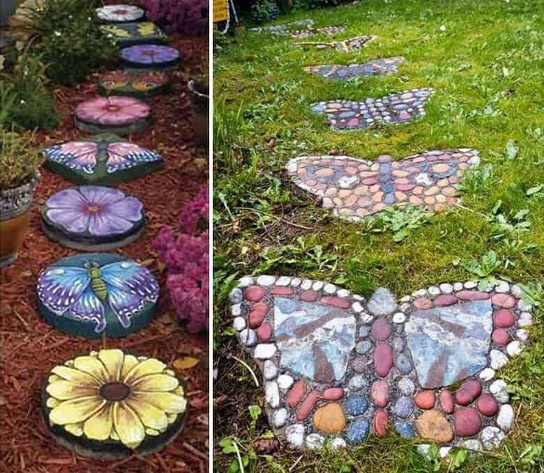 Making A Wonderful Garden Path Ideas Using Stones: 23 Fun And Whimsical Garden Stepping Stone Ideas