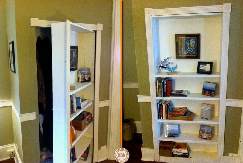 how to build your own hidden door bookcase. Black Bedroom Furniture Sets. Home Design Ideas