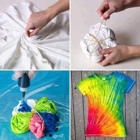 Tie Dye Swirl T Shirt Tutorial