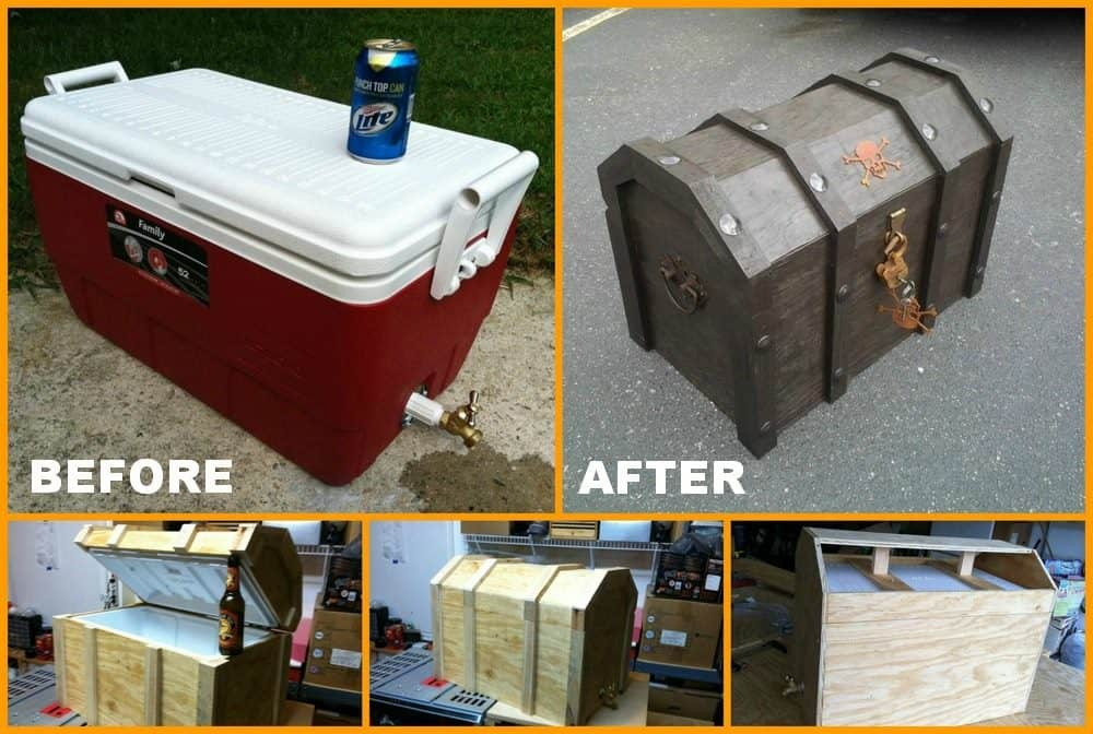DIY Pirates Chest Cooler