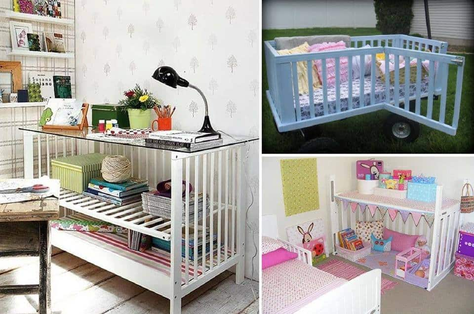 28 Wonderful Ways To Repurpose Baby Cribs
