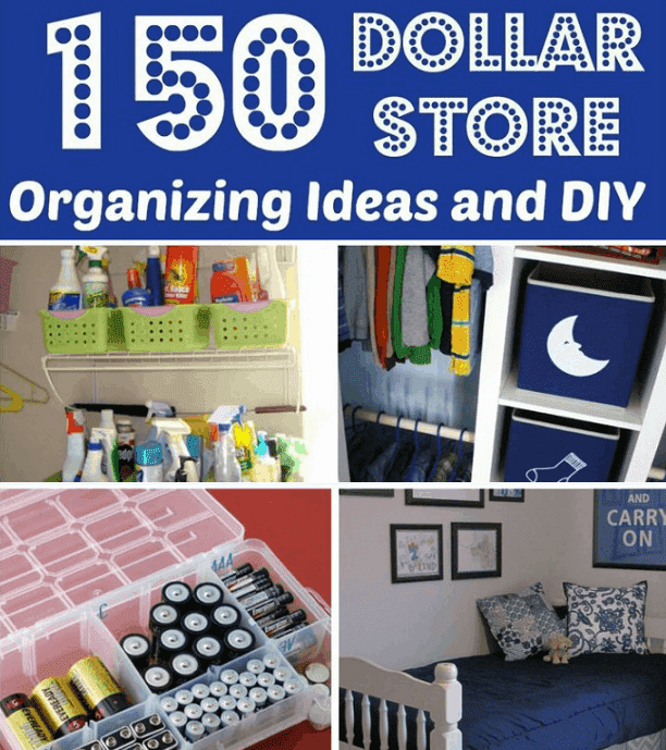 Tons Of Dollar Store Organization And DIY Ideas