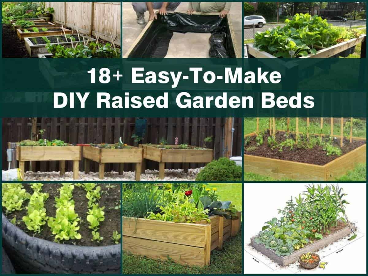 18+ Simple DIY Raised Garden Beds