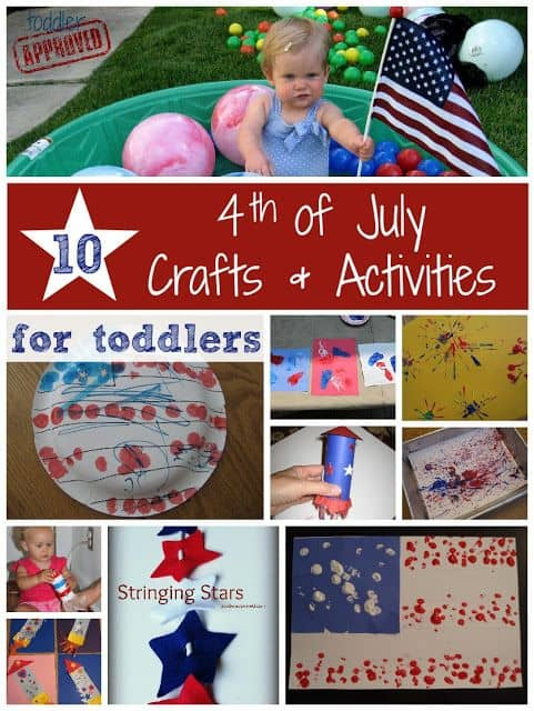 10 Toddler approved Fourth Of July Crafts And Activities