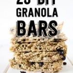 23 DIY Granola Bar Recipes