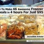 46 Homemade Freezer Meals (For $95)