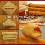 Delicious Fried Mozzarella-Pepperoni Egg Roll