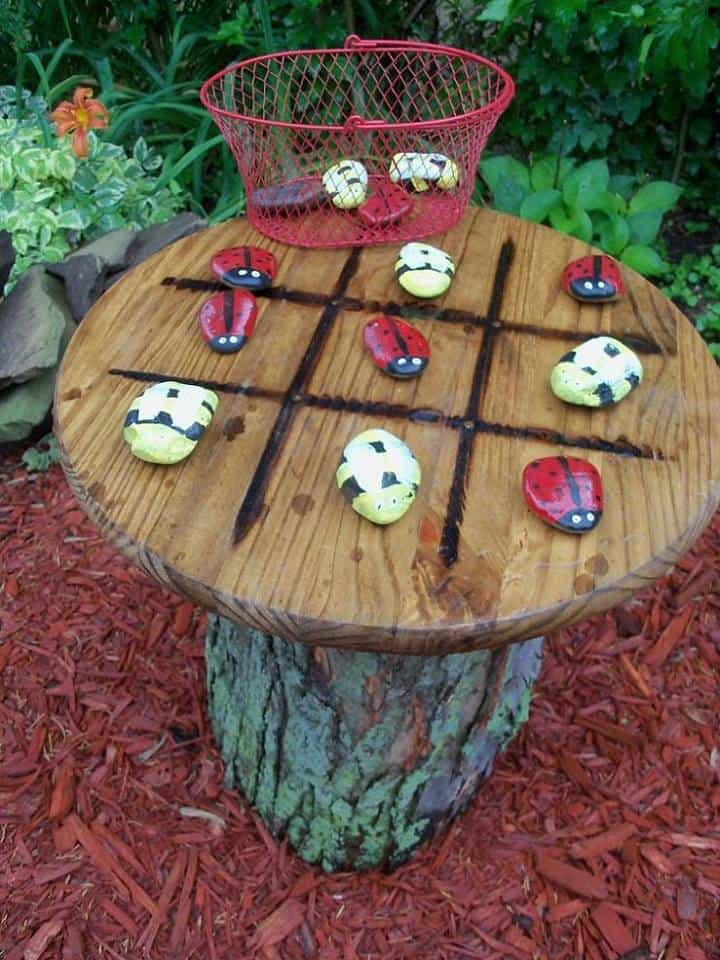 Outdoor Tic Tac Toe Garden Table