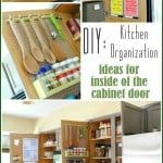How To Organize Inside Kitchen Cabinet Doors