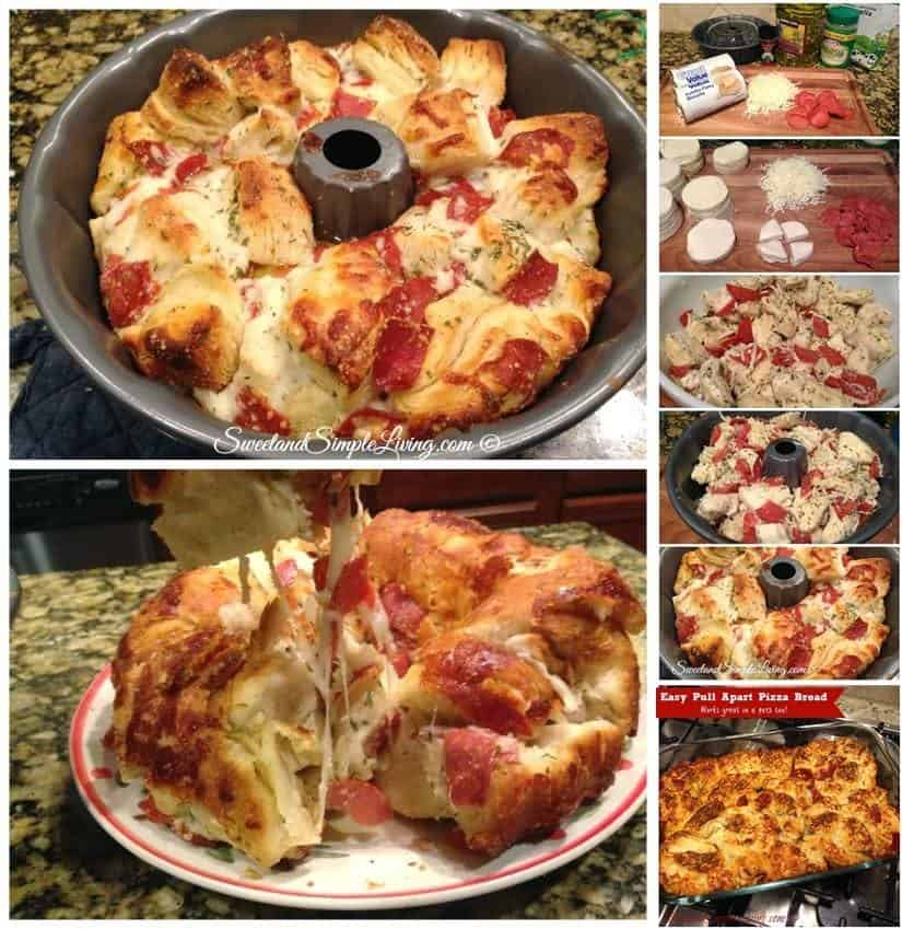 Yummy Pull-Apart Pizza Bread