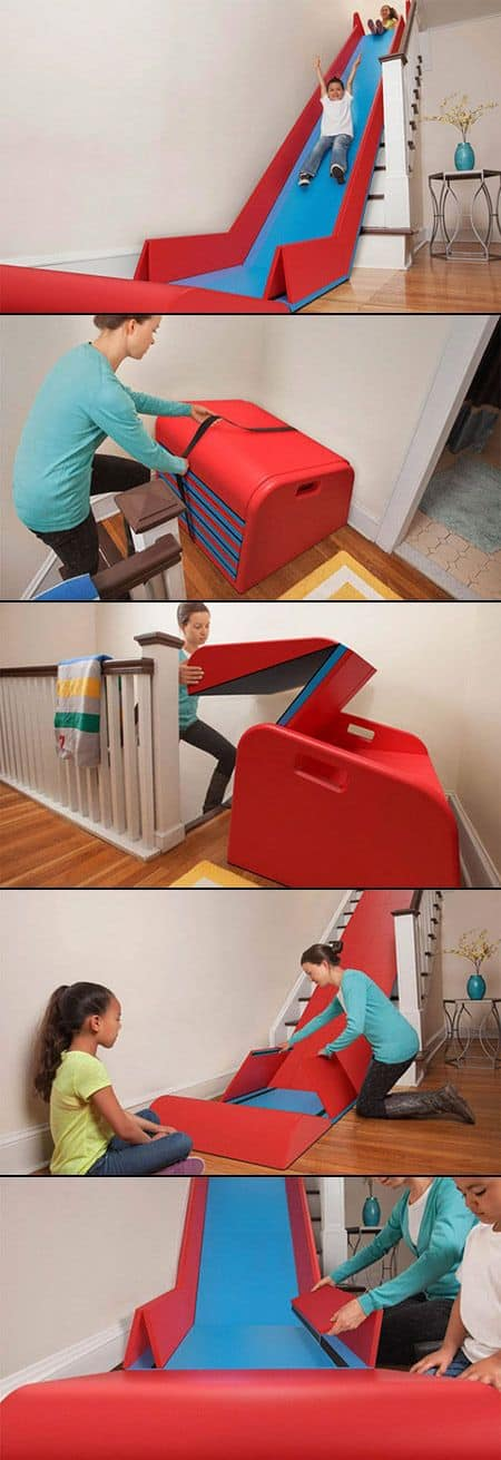 The Sliderider Foldable Indoor Stairs Slide Diy Cozy Home
