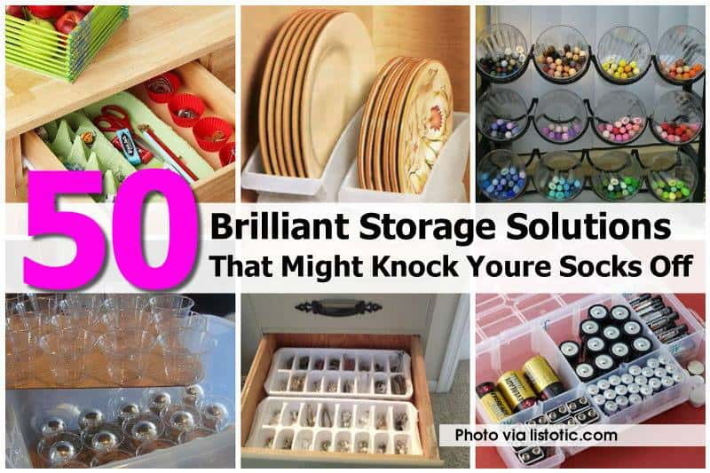 50+ Helpful Home Storage Solutions