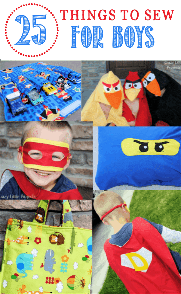 25 Cute Things To Sew For Little Boys