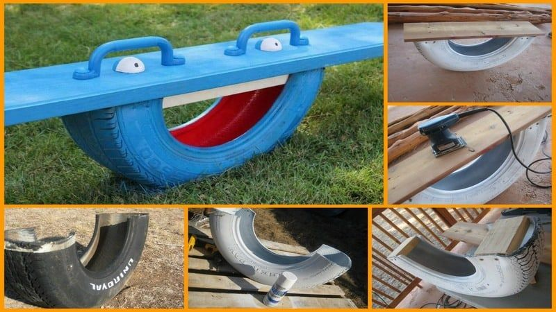 DIY Tire Teeter Totter