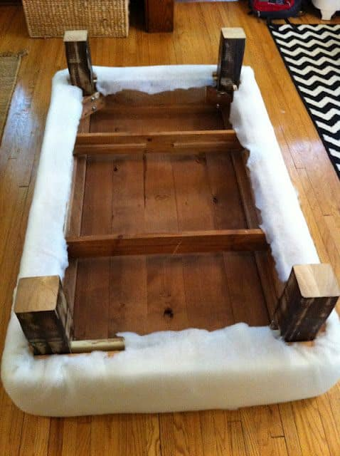 DIY Coffee Table An Ottoman (Inside Out Design)