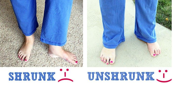 Unshrink 'Ruined' Clothes
