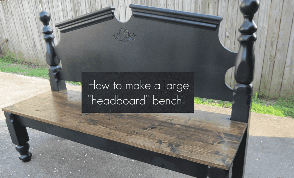 diy headboard bench