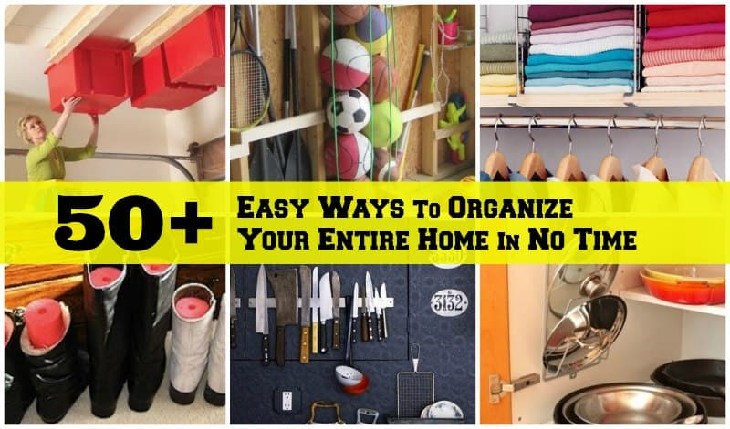 organize home tips