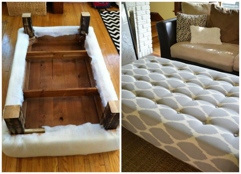 Amazing Ottoman Diy. ADVERTISEMENT. What An Impressive Way To Repurpose A Coffee  Table.