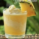 Homemade Pineapple Frozen Yogurt Smoothie