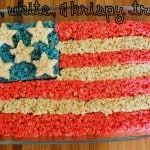 red white and krispy treats